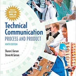 Test Bank for Technical Communication Process and Product 9th Edition Gerson