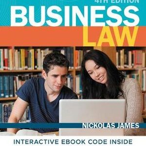 Test Bank for Business Law 4th Edition James