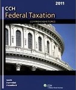 Solution Manual for Federal Taxation: Comprehensive Topics (2011), by Smith