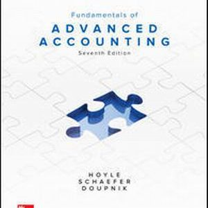Test Bank for Fundamentals of Advanced Accounting