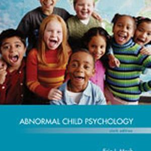 Test Bank for Abnormal Child Psychology