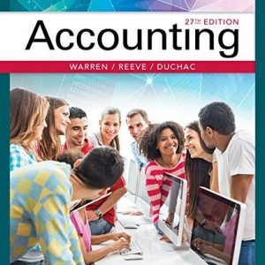 Solution Manual for Accounting, 27th Edition Warren