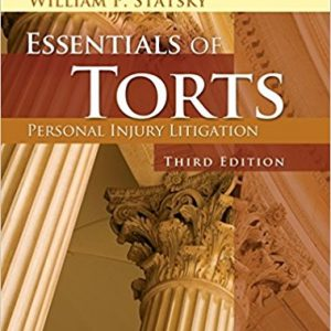 Test Bank for Essentials of Torts