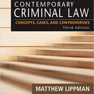 Test Bank for Contemporary Criminal Law: Concepts