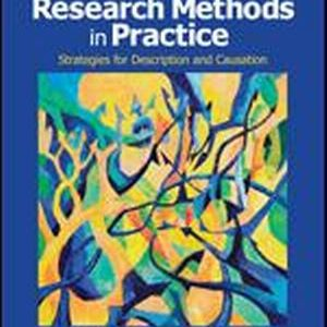 Test Bank for Research Methods in Practice Strategies for Description and Causation