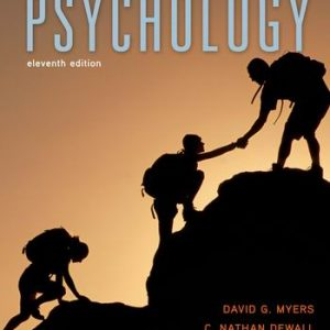 Test Bank for Psychology, 11th Edition, Myers
