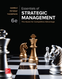 Test Bank for Essentials of Strategic Management 6th Edition Gamble