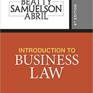 Solution manual for Introduction to Business Law 6th Edition by Beatty