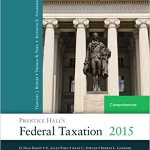 Solution manual for Prentice Hall's Federal Taxation 2015 Comprehensive 28th Edition by Pope