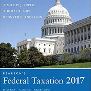 Solution manual for Pearson's Federal Taxation 2017 Individuals 30th Edition by Pope