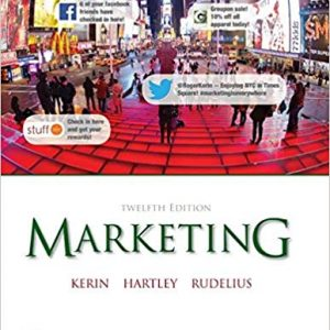 Solution manual for Marketing 12th Edition by Kerin