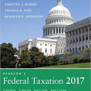 Solution manual for Pearson's Federal Taxation 2017 Corporations