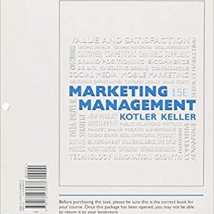 Solution manual for Marketing Management 15th Edition by Kotler