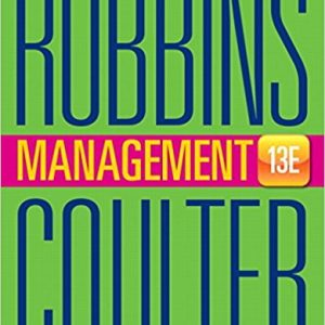 Solution manual for Management 13th Edition by Robbins