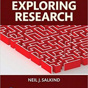 Solution manual for Exploring Research 9th Edition by Salkind
