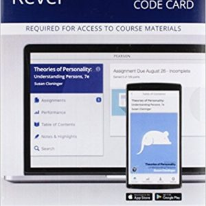 Solution manual for Theories of Personality Access Card 7th Edition by Cloninger