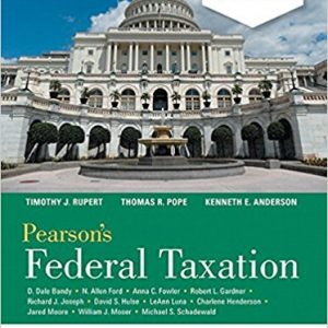 Solution manual for Pearson's Federal Taxation 2018 Comprehensive 31st Edition by Pope