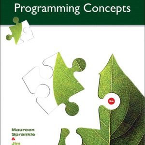 Solution Manual for Problem Solving and Programming Concepts