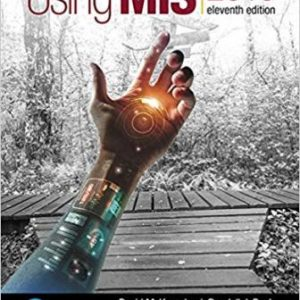 Solution Manual for Using MIS