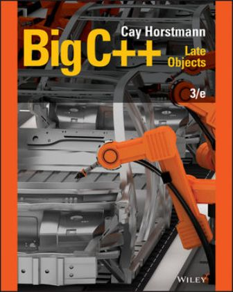 Test Bank for (Chapter 1 - 17) Big C++: Late Objects 3rd Edition Horstmann