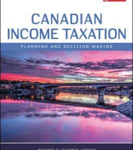 Test Bank for Canadian Income Taxation, 2019/2020 22nd Edition Buckwold