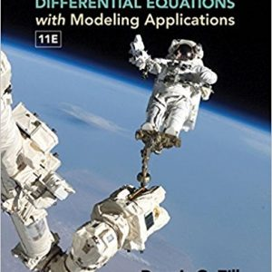 Solution Manual for A First Course in Differential Equations with Modeling Applications
