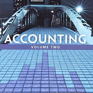 Solution manual for Accounting Volume 2