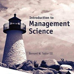 Solution manual for Introduction to Management Science 13th Edition by Taylor