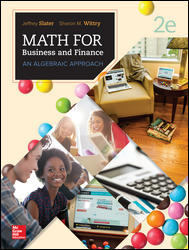 Solution manual for MATH FOR BUSINESS AND FINANCE AN ALGEBRAIC APPROACH 2nd Edition by Slater