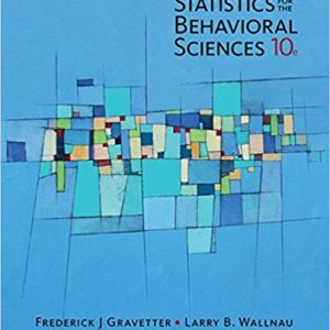 Solution Manual for Statistics for The Behavioral Sciences