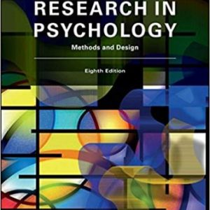 Test Bank for Research In Psychology Methods and Design