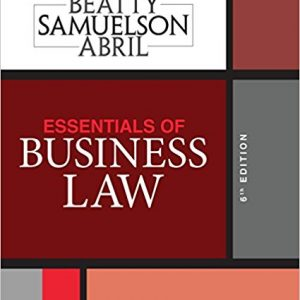 Test Bank for Essentials of Business Law 6th Edition by Beatty