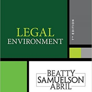 Test Bank for Legal Environment 7th Edition by Beatty