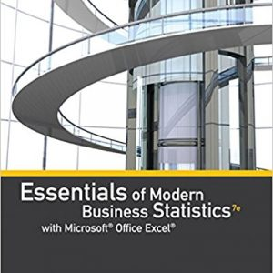 Test Bank for Essentials of Modern Business Statistics with Microsoft Office Excel 7th Edition by Anderson