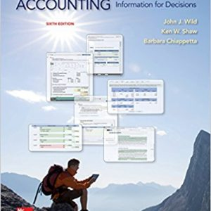 Test Bank for Financial and Managerial Accounting 6th Edition by Wild