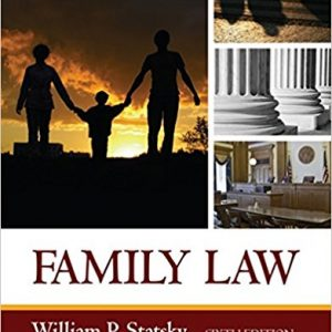 Test Bank for Family Law 6th Edition by Statsky