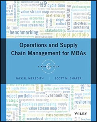 Test Bank for Operations Management for MBAs