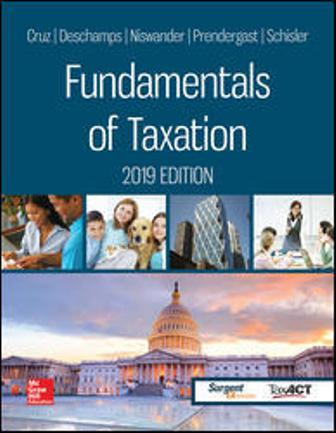 Solution Manual for Fundamentals of Taxation 2019 Edition