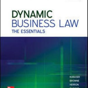 Test Bank for Dynamic Business Law: The Essentials