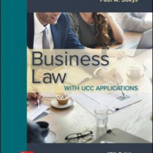 Test Bank for Business Law with UCC Applications 15th Edition Sukys