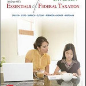 Solution Manual for McGraw-Hill's Essentials of Federal Taxation 2019 Edition