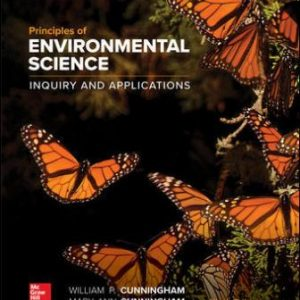 Test Bank for Principles of Environmental Science 9th Edition Cunningham ISBN10: 1260219712