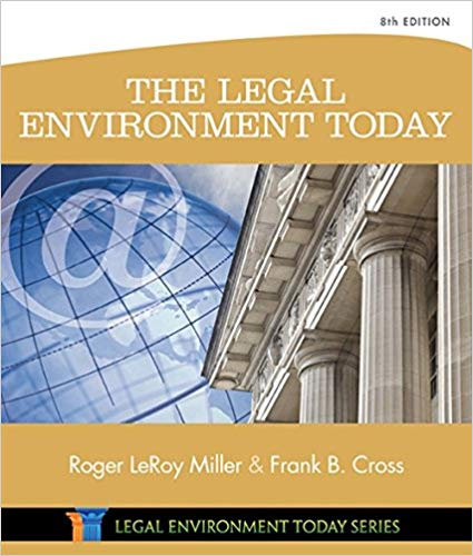 Test Bank for The Legal Environment Today