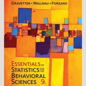 Solution Manual for Essentials of Statistics for The Behavioral Sciences