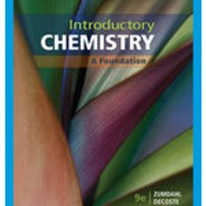 Solution Manual for Introductory Chemistry: A Foundation 9th Edition Zumdahl