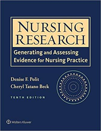 Test Bank for Nursing Research: Generating and Assessing Evidence for Nursing Practice