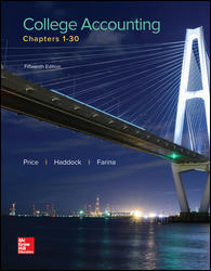 Test Bank for College Accounting Chapters 1-30 15th Edition by Price