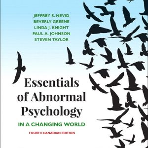 Test Bank for Essentials of Abnormal Psychology Canadian 4th Edition by Nevid