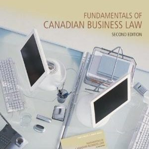 Test Bank for Fundamentals of Canadian Business Law 2nd Edition by Willes