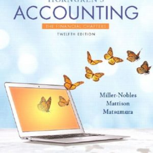 Test Bank for Horngren's Accounting